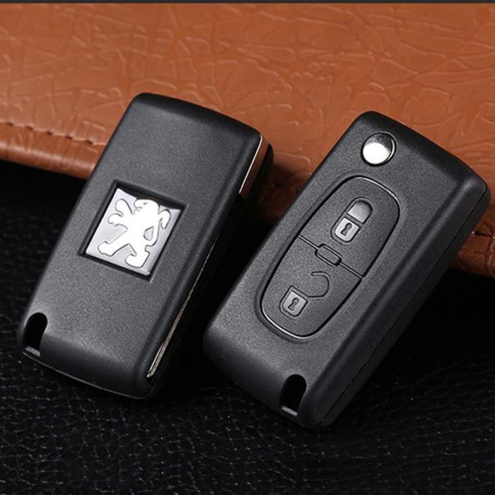 Fassport Coque de t/él/écommande de voiture Peinture m/étallique pour Peugeot Citroen 3/Boutons
