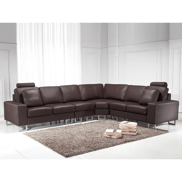 canap d 39 angle r versible canap en cuir brun sofa. Black Bedroom Furniture Sets. Home Design Ideas