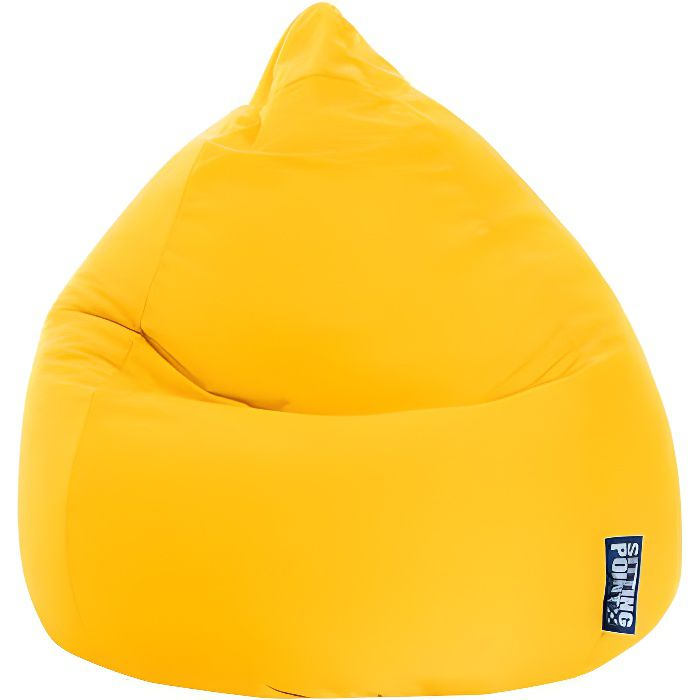 pouf poire easy xl jaune by sittingpoint achat vente pouf poire 100 polyester cdiscount. Black Bedroom Furniture Sets. Home Design Ideas