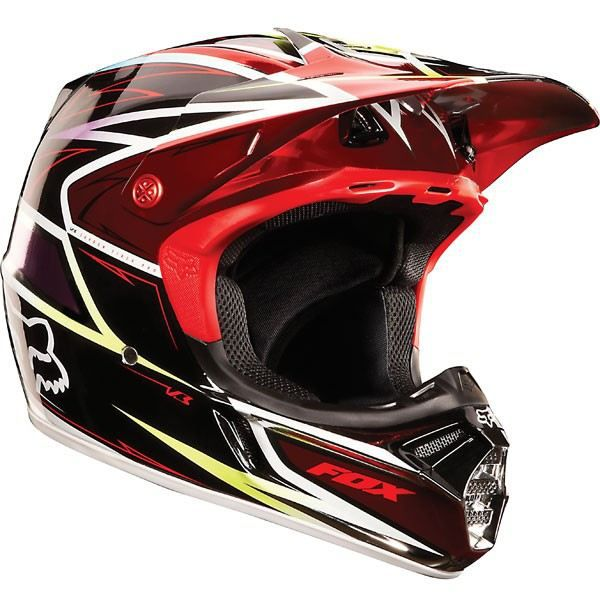 casque cross fox v3 race rouge noir achat vente casque. Black Bedroom Furniture Sets. Home Design Ideas