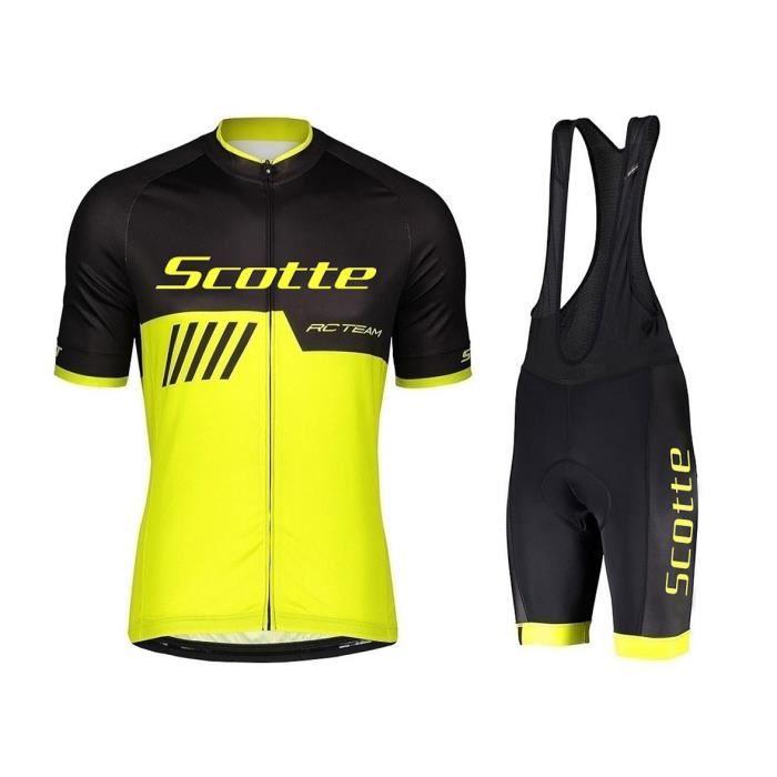 Hommes Maillot de cyclisme à manches courtes avec cuissard Top Bike Shirt Racing Sport
