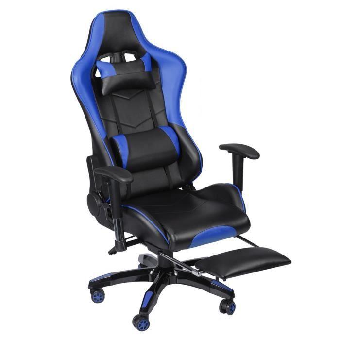 CHAISE DE BUREAU Chaise de jeu pivotant 135° Design chaise de burea