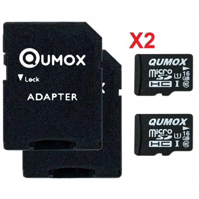 qumox 16 go 16gb micro sd classe 10 uhs i x2 achat. Black Bedroom Furniture Sets. Home Design Ideas