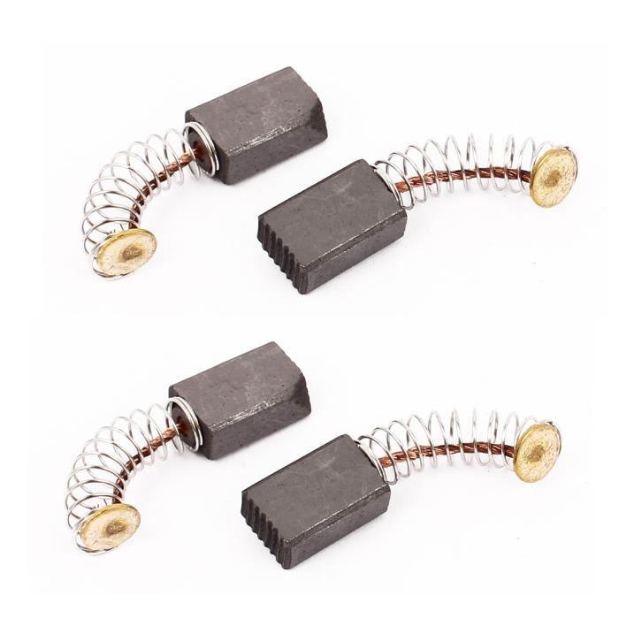 sourcingmap/® 2 paires 12x7x6mm brosses /à charbon Outil /électrique pour moteur /à percussion /électrique