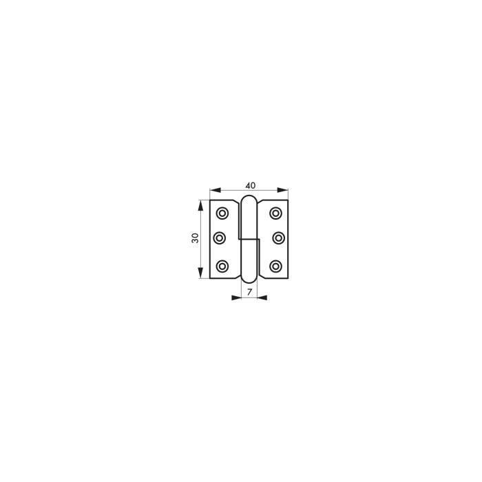 Paumelle de porte 30 x 40 mm gauche Thirard