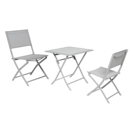 Table Azua Hesperide Pliante Alu Silver 2 Places Achat Vente