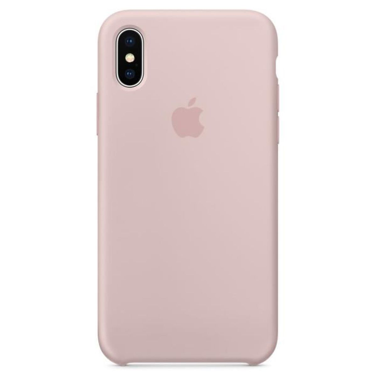 coque iphone xr apple rose pale
