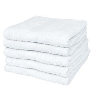 SERVIETTES DE BAIN Towels 5 serviettes de toilette blanches 50 x 100