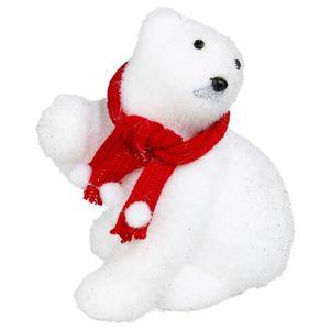 ® DEL ours polaire 20 cm de Noël Décoration éclairage acrylique personnage Noël dans. TEC