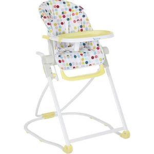 CHAISE HAUTE  BADABULLE Chaise Haute Compacte Confetti Jaune