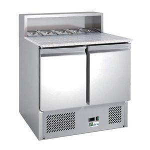 ARMOIRE RÉFRIGÉRÉE Saladette réfrigérée dessus marbre - 2 portes