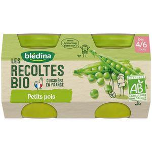 PURÉES DE LÉGUMES BLEDINA Petits pots petits pois Les récoltes Bio -