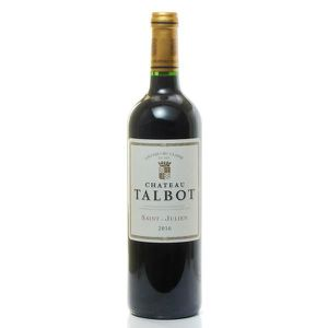 VIN ROUGE Château Talbot AOC Saint Julien Rouge 2016 75cl