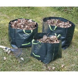 SAC À DÉCHETS VERTS  COGEX Lot de 3 sacs à déchets végétaux en polyéthy