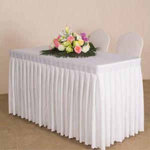 Beautissu Basic L Nappe Housse de Table 220x50cm Mariage f/ête Banquet c/ér/émonie Housse de Banc 220x25cm Blanc