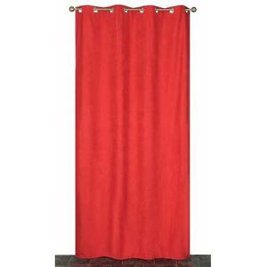 RIDEAU Rideau Coloré Isolant et Thermique Rouge 140 x 240