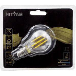 AMPOULE - LED Ampoules LED E14 sphérique filament clair - 4 W éq