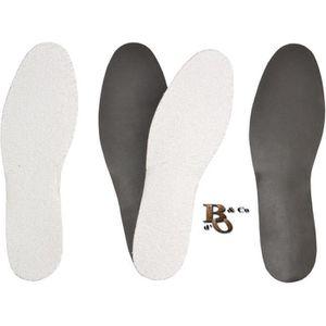 Anti transpiration Semelles Pieds nus en tissu /éponge Plusieurs Pointures Semelles Chaussure /« Frotte /»