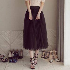 JUPE Mode féminine plissés Tulle maille élastique taill
