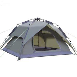 TENTE DE CAMPING Tente De Camping Double Toits Étanche En Plein Air