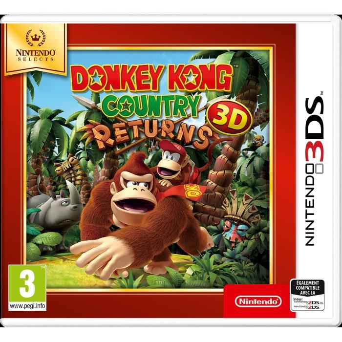 Donkey Kong Country Returns 3DS Jeu Nintendo Selects