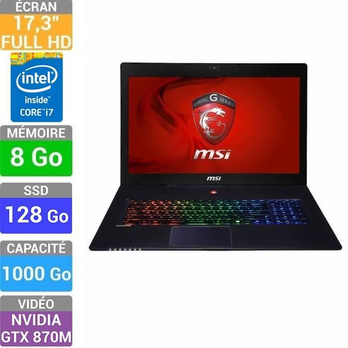 msi pc portable gamer gs70 2pe 417xfr prix pas cher. Black Bedroom Furniture Sets. Home Design Ideas