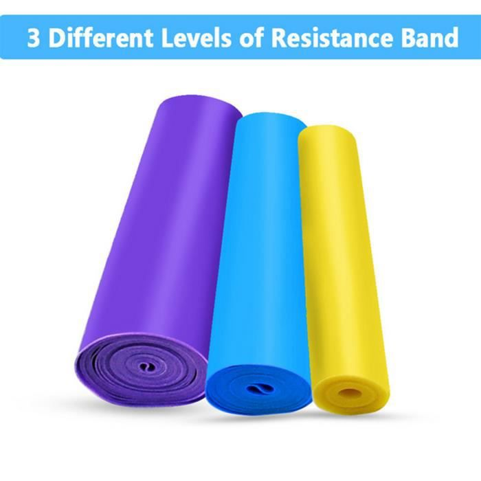 Bandes de résistance unisexe Yoga Pull Rope Fitness Pull Strap Stretching Yoga Belts @Buuiude2330