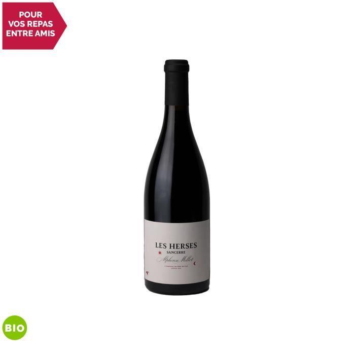 Sancerre Les Herses Rouge 2013 - Bio - 75cl - Alphonse Mellot - Vin AOC Rouge du Val de Loire - Cépage Pinot Noir
