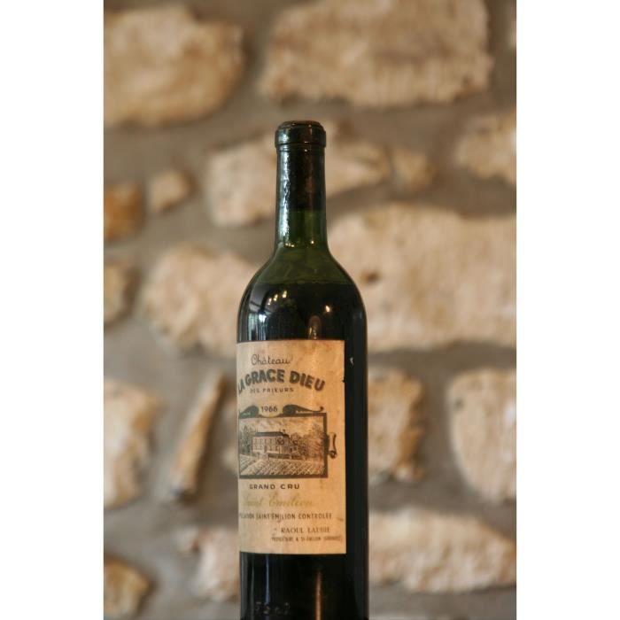 Vin rouge, Château La Grace de Dieu 1966 Rouge