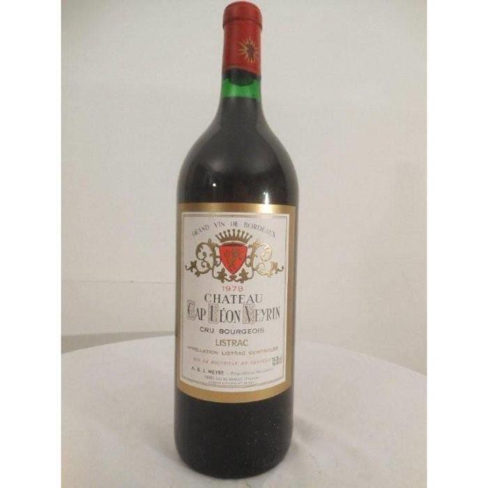 magnum 150cl listrac château cap léon veyrin cru bourgeois rouge 1978 - bordeaux france
