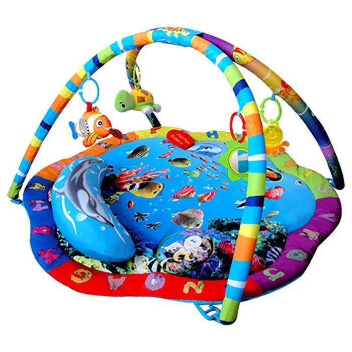 Bebe Style Ocean World - Tapis de jeu et salle de sport avec coussin - Bleu A