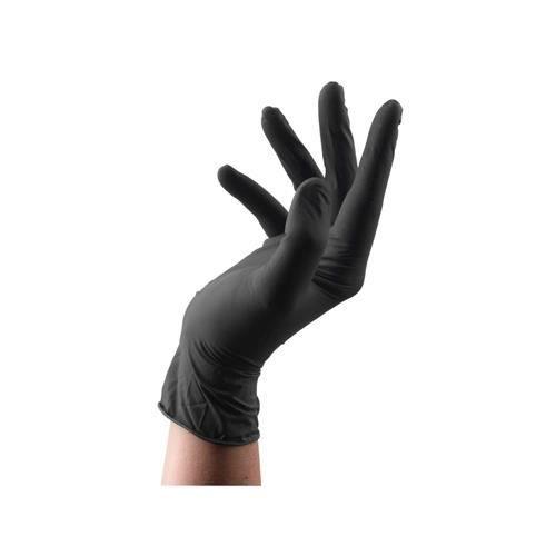 Gants Black Latex 100 Pcs Large