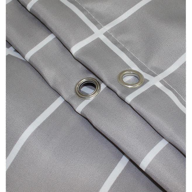 Rideau de Douche Imperméable et Anti-moisissure, Tissu en Polyester sans crochets Rideau Douche, 200x200CM