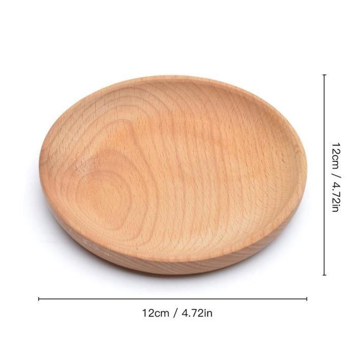 Plats et assiettes,Plateau de Service salle à Dessert plateau de Service planche à Sushi en bois plat de collation - Type Marron