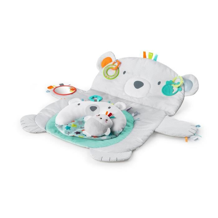 BRIGHT STARTS Tapis d'éveil Ours Polaire Tummy Time Prop & Play™