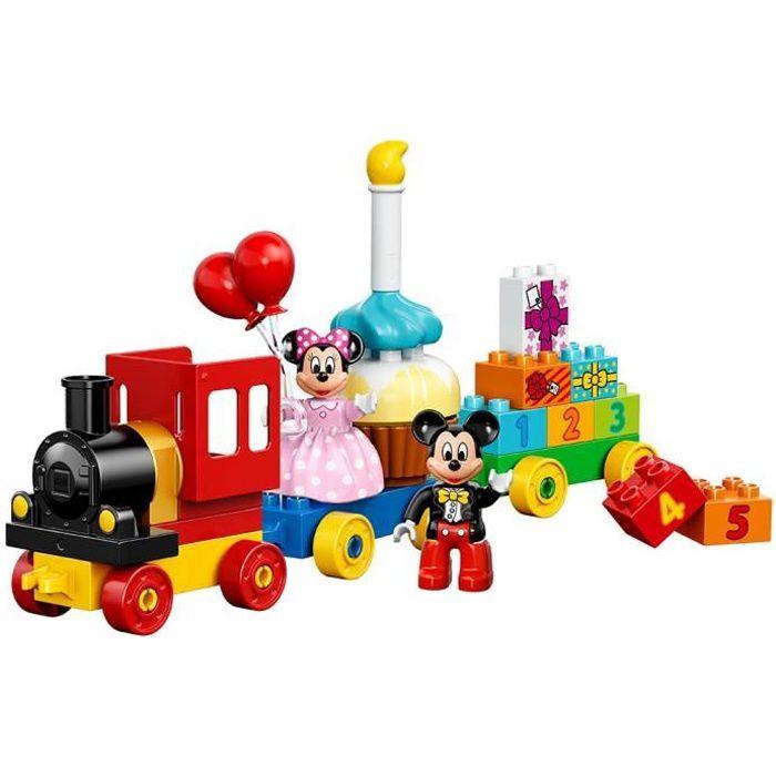 Jeu D'Assemblage LEGO QVGPS Duplo Marque Disney 10597 Mickey et Minnie Kit anniversaire du bâtiment Parade