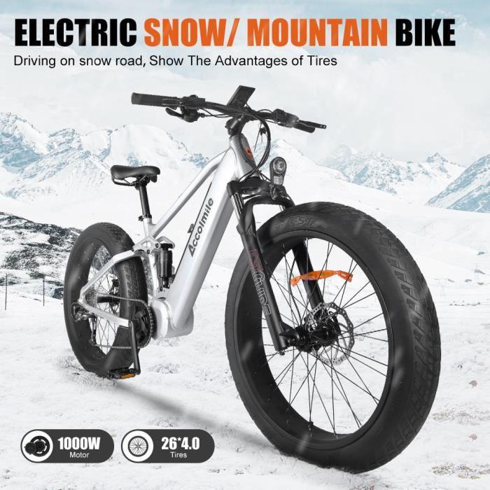 ACCOLMILE Vélo à assistance électrique 1000W NOIR avec BAFANG Moteur pédalier BBSHD et LG Batterie 48V Cellules 18650
