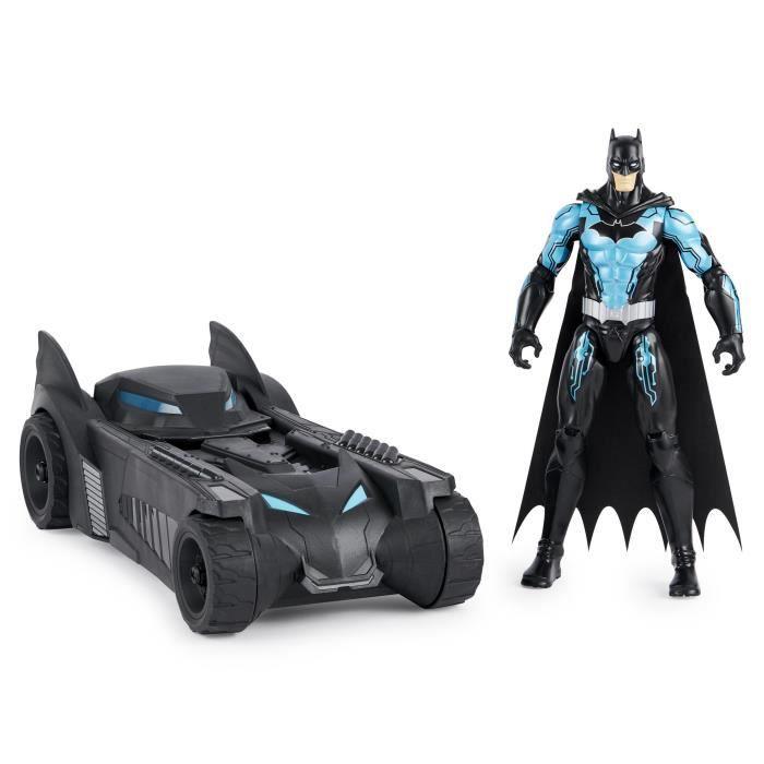 DC COMICS BATMAN - PACK BATMOBILE + FIGURINE 30 CM Batman - 6058417 - Jeu Jouet Enfant