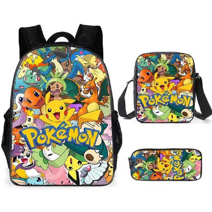 Pokémon Sacs D'école Cool Garçons Filles Anime Elfe Pikachu Sac À Dos Scolaire Enfants Backpack A1