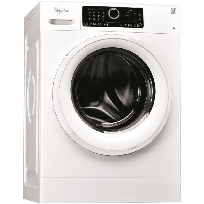 WHIRLPOOL FSC-R80417-Lave linge frontal-8 kg-1400 trs /min-A+++-Moteur induction-SoftMove