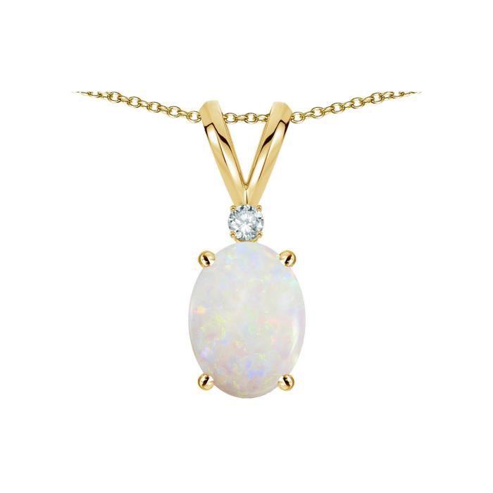 14k or jaune diamants Clous Allah collier pendentif