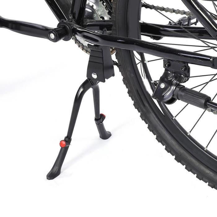 Vélo Support Béquille latérale réglable 24-28 noir alu//Edelst Nº 07015