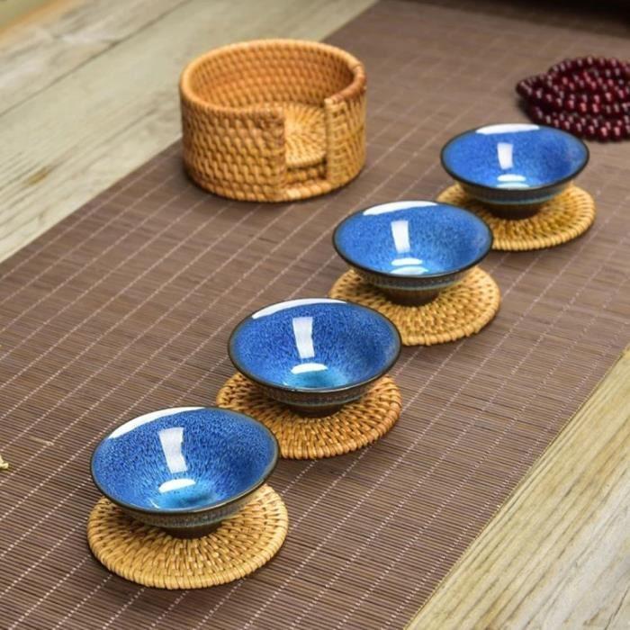 Silicone isolation thermique Coasters Mat Résistant Pad antidérapant café tasse thé G
