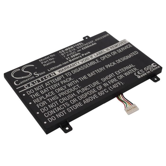 BATTERIE INFORMATIQUE Batterie ordinateur msi windpad 110w-014us