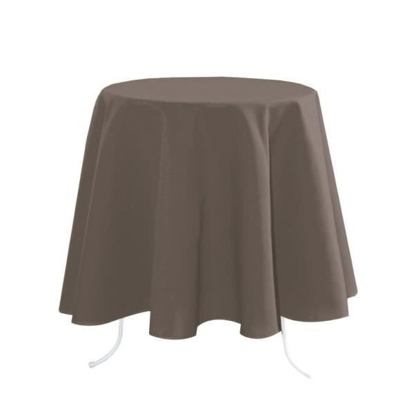 NAPPE RONDE NELSON 160 CM 100% POLYESTER TAUPE - Achat / Vente ...
