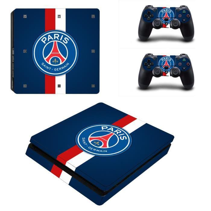 STICKER - SKIN CONSOLE Paris Saint-Germain autocollant peau PS4 Slim pour