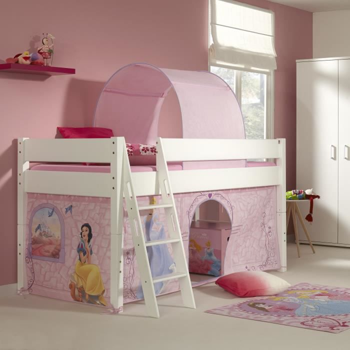 lit mi hauteur pour enfant princesse disney achat. Black Bedroom Furniture Sets. Home Design Ideas