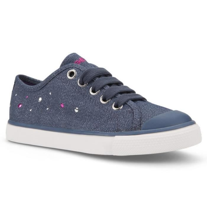 Fille Basses Bleu Denim26 Médium Baskets Jean Géox F1TclJK