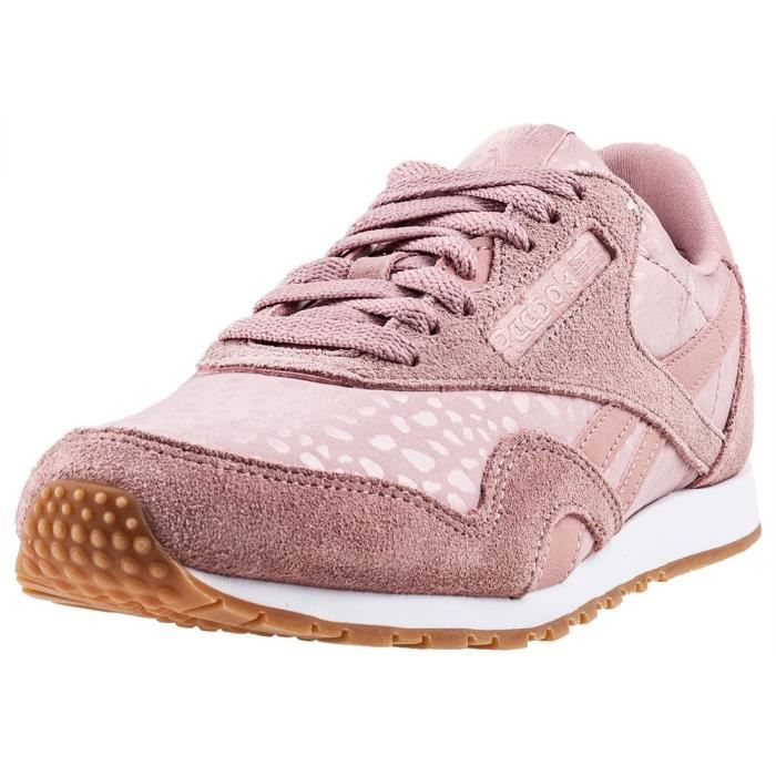 38cb2f9170354 Reebok Classic Nylon Slim Lux Femmes Baskets Blush Rose - 6 UK Rose ...