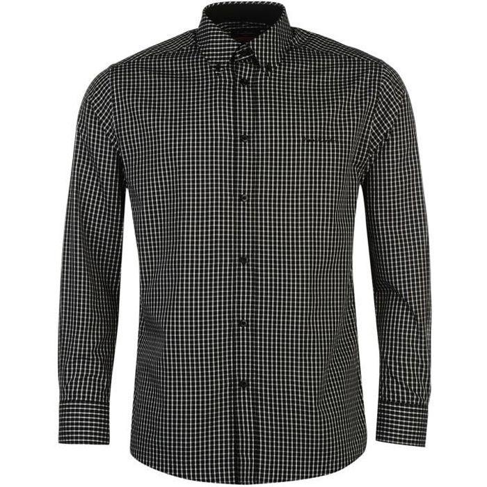 noir /& gris manches longues blanc Hommes Boutonné Chemise taille XXL neuf avec étiquettes